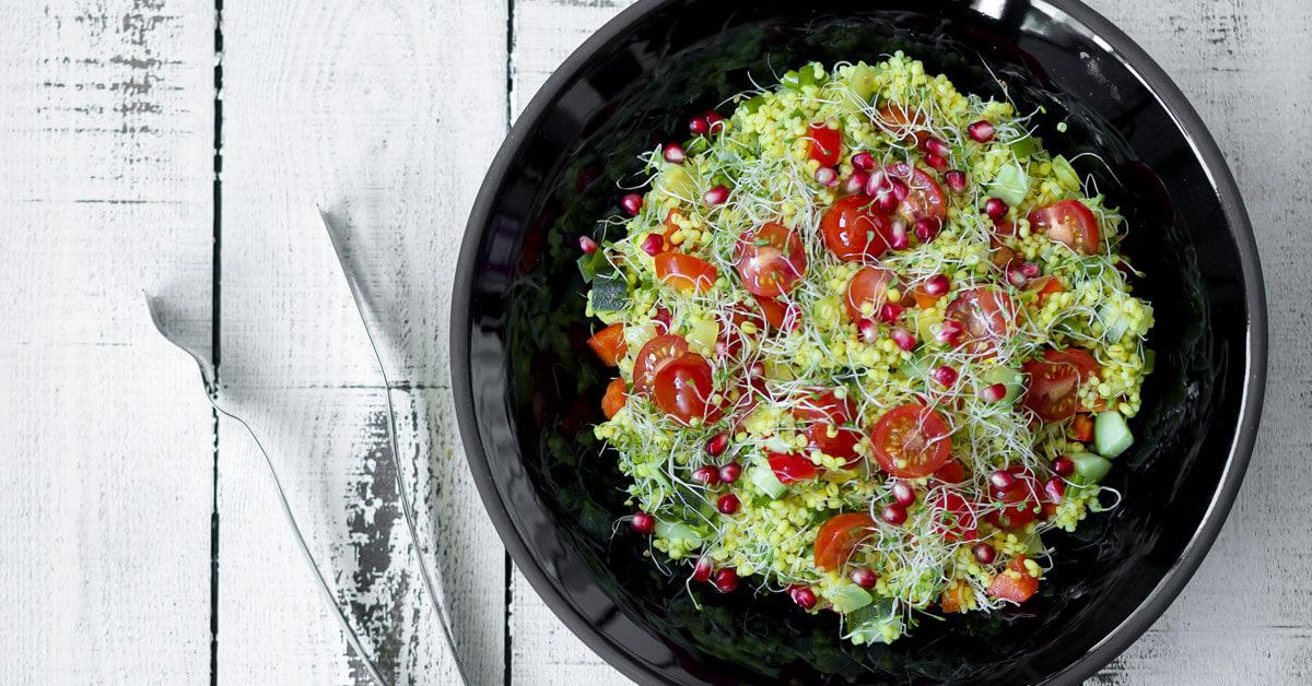 Silmusalaatti resepti - Kotimainen Tabbouleh -tyylinen salaatti