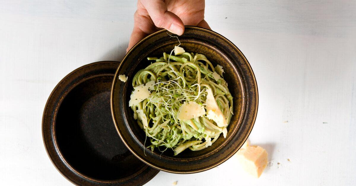 Silmusalaatti resepti - Lempeän vihreä Silmusalaatti-pasta