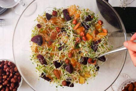 Silmusalaatti resepti - Juhlapöydän salaatti