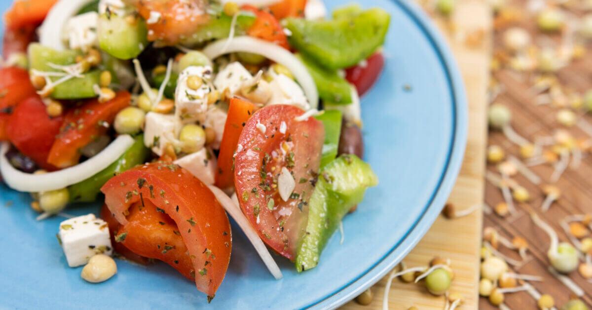 Silmusalaatti resepti - Kreikkalainen salaatti