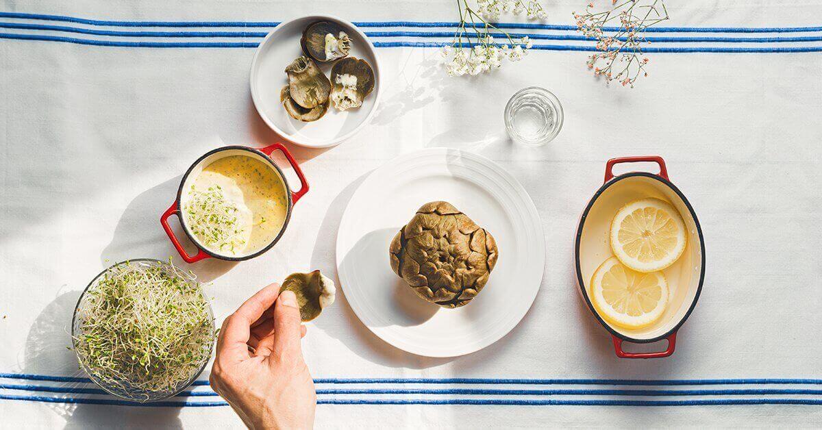 Silmusalaatti resepti - Latva-artisokkaa rapujen tapaan