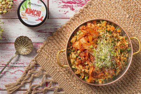 Silmusalaatti resepti - Paistettu riisi kimchillä